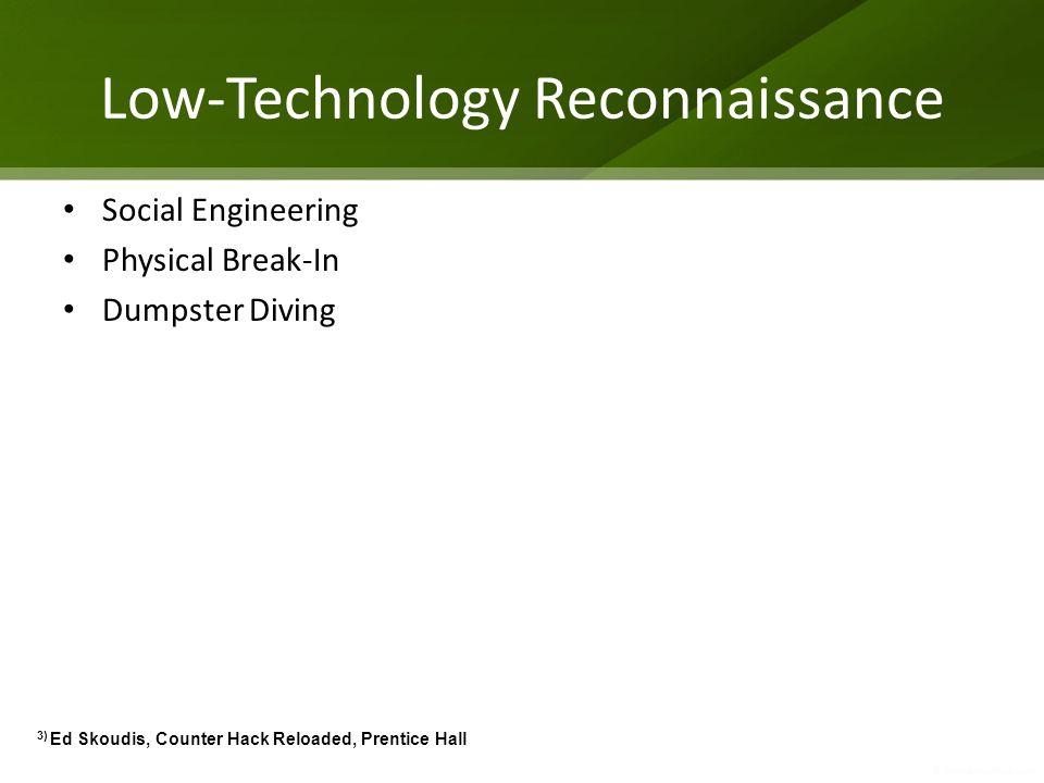 Low-Technology Reconnaissance