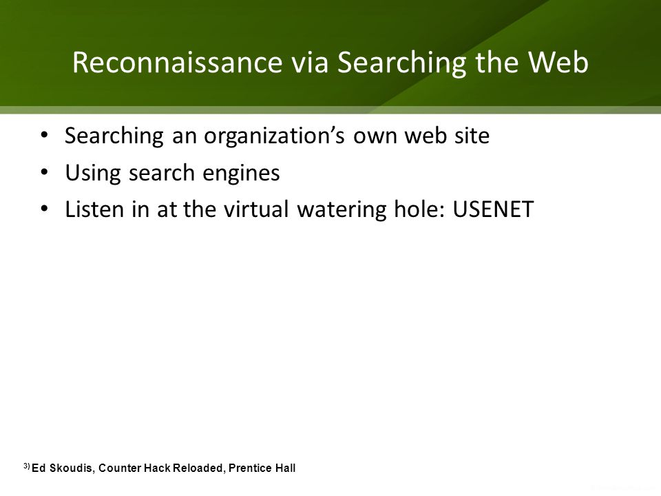Reconnaissance via Searching the Web