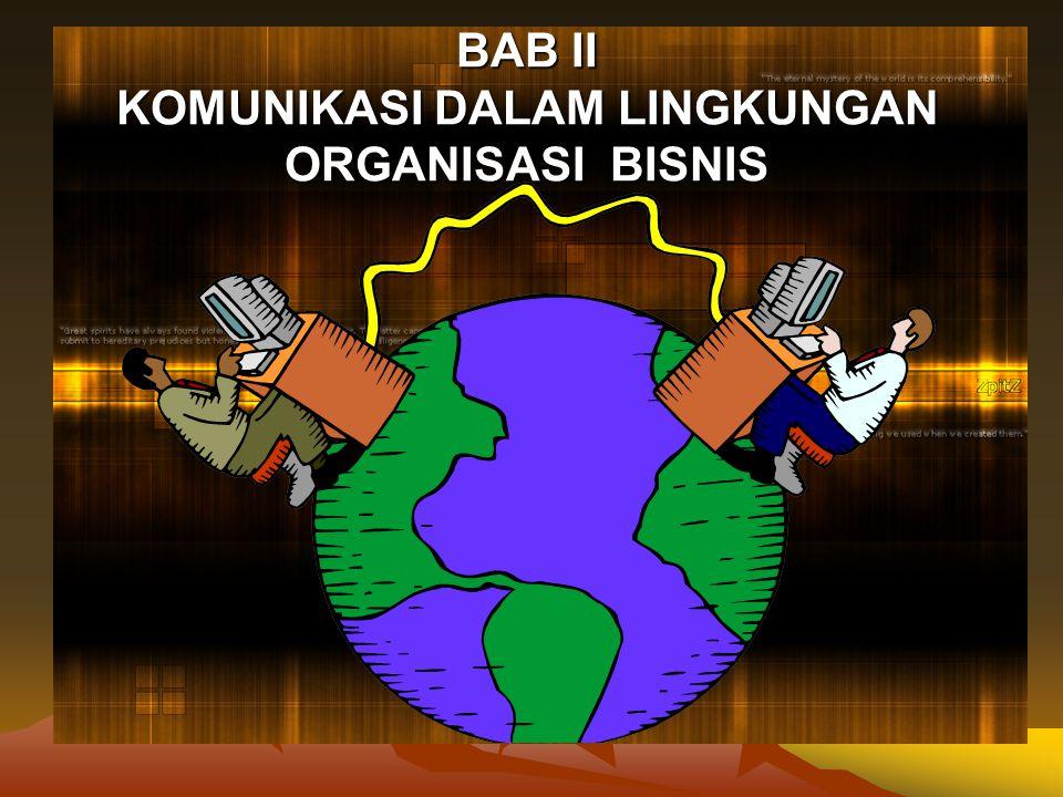BAB II KOMUNIKASI DALAM LINGKUNGAN ORGANISASI BISNIS