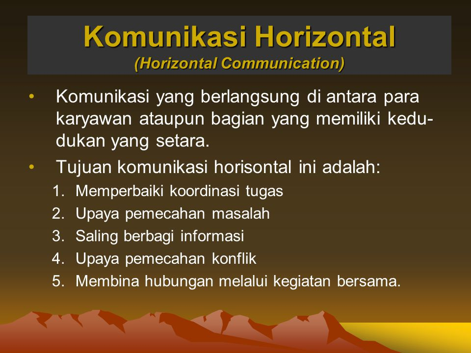 Komunikasi Horizontal (Horizontal Communication)