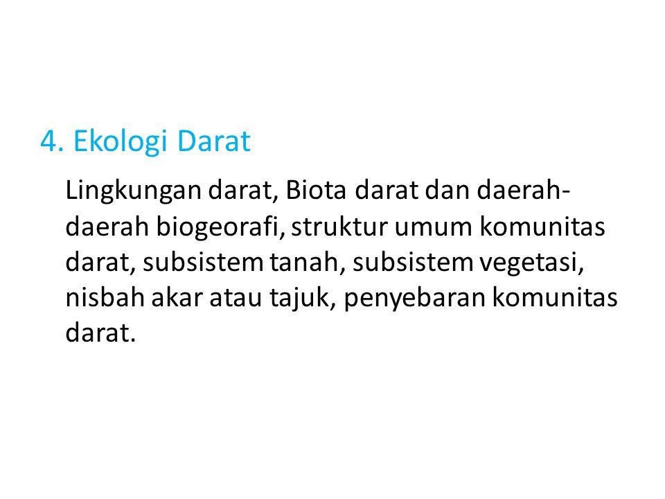 4. Ekologi Darat