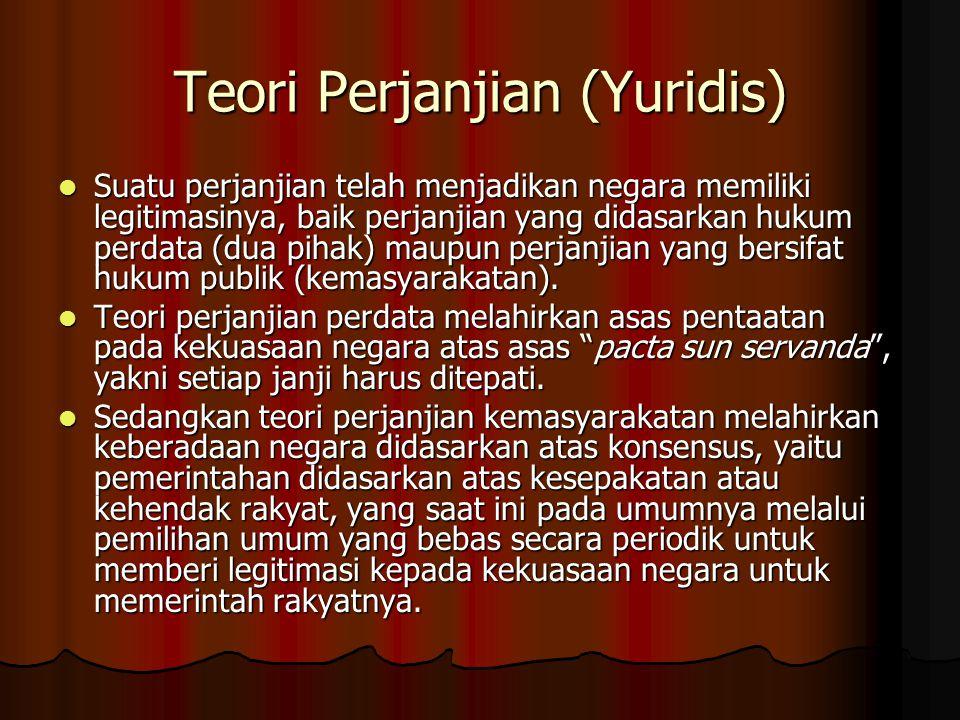 Teori Perjanjian (Yuridis)