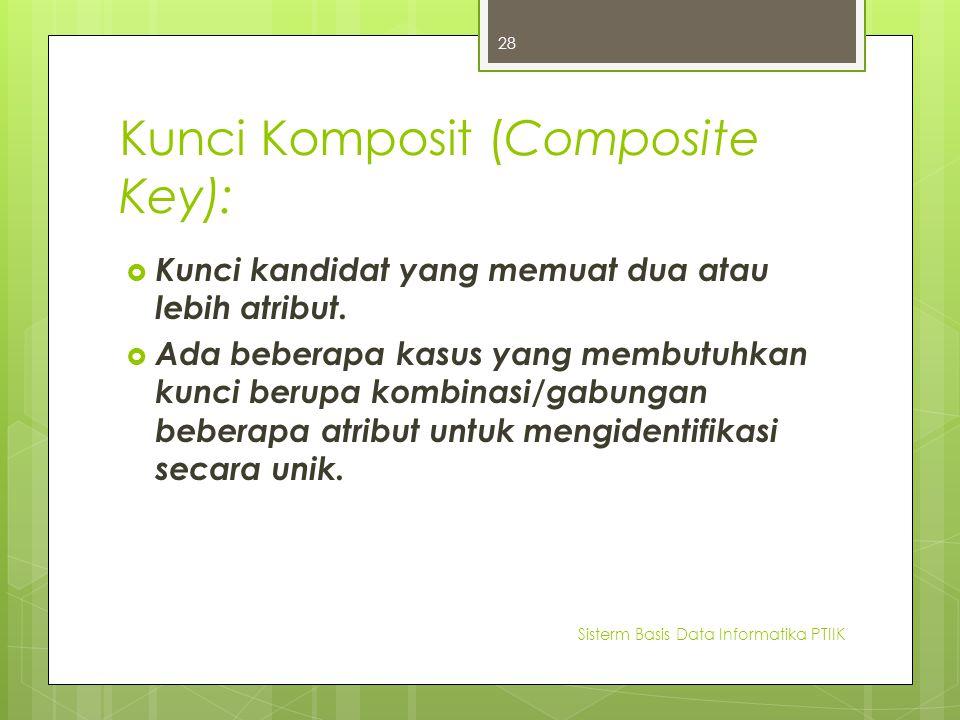 Kunci Komposit (Composite Key):