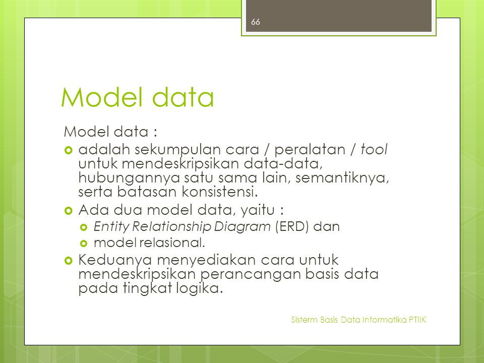 Model data Model data :