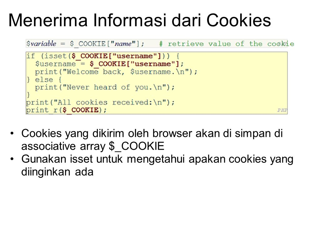 Menerima Informasi dari Cookies