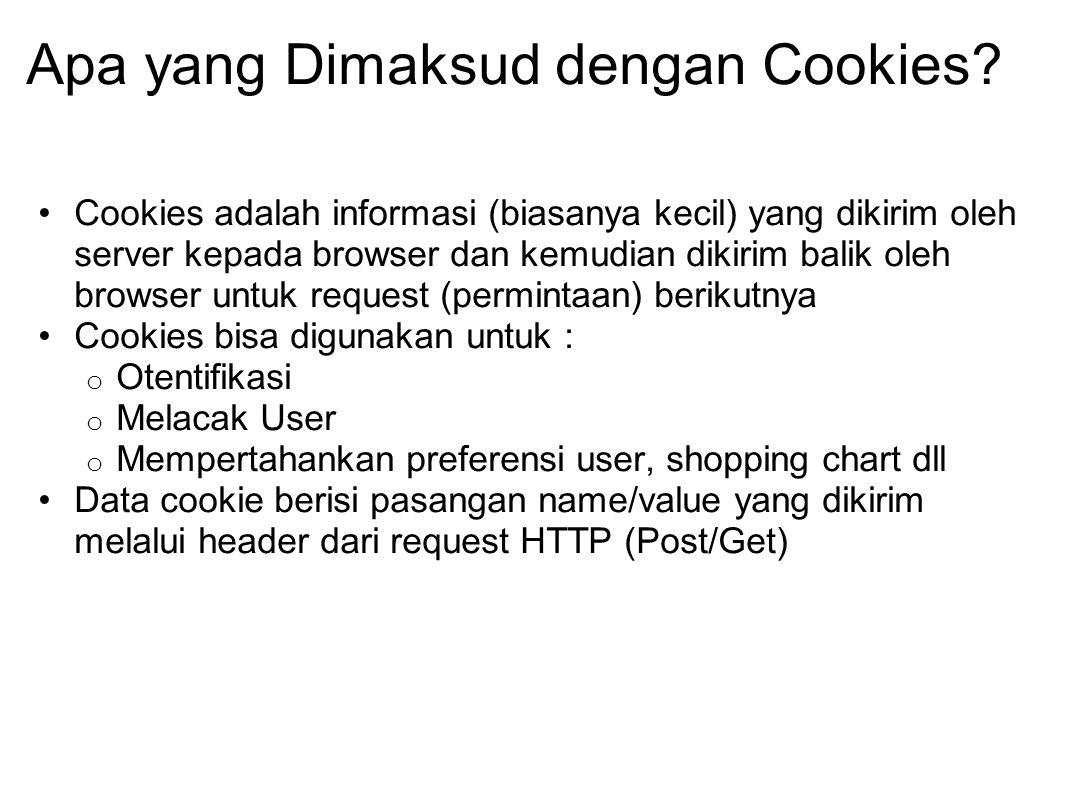 Apa yang Dimaksud dengan Cookies