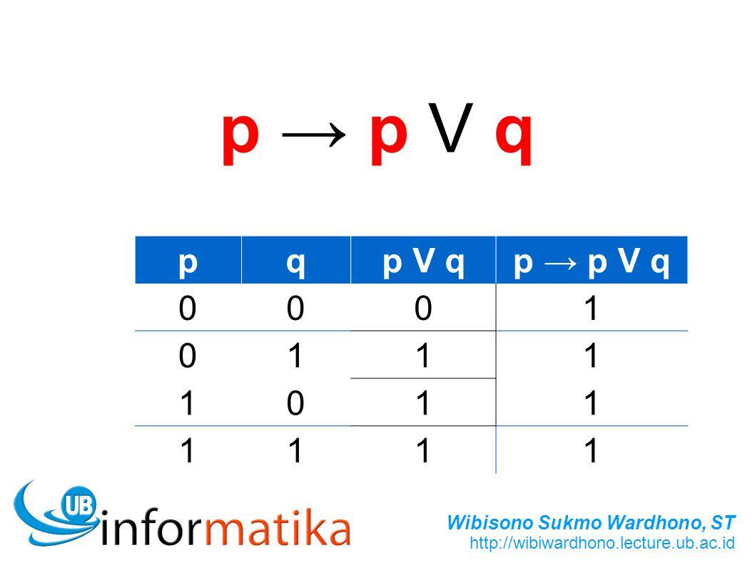 p → p V q p q p V q p → p V q 1