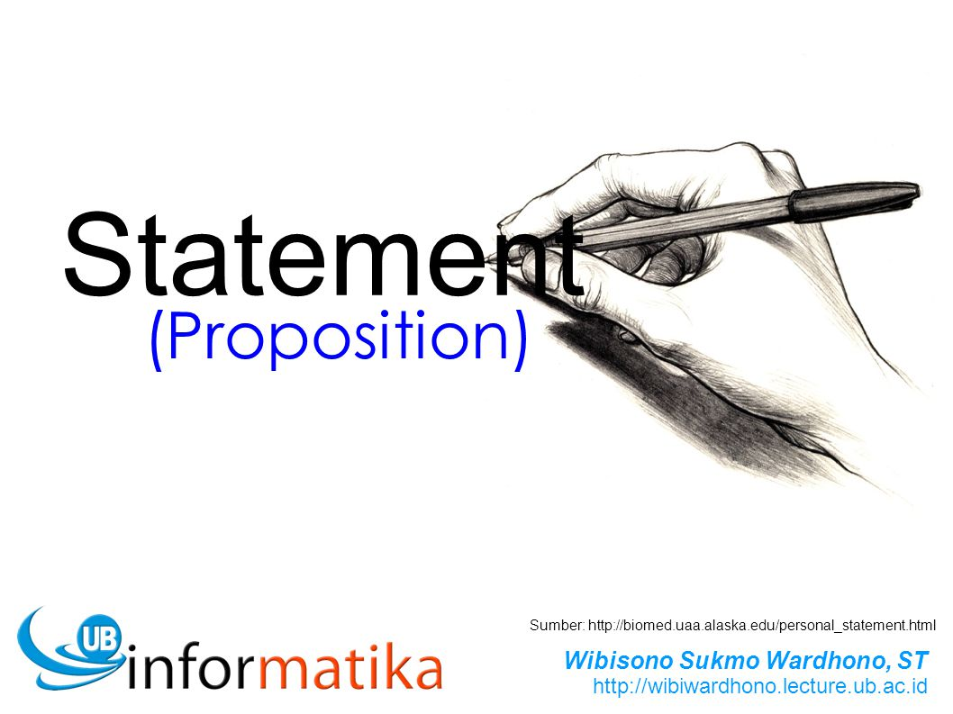 Statement (Proposition)