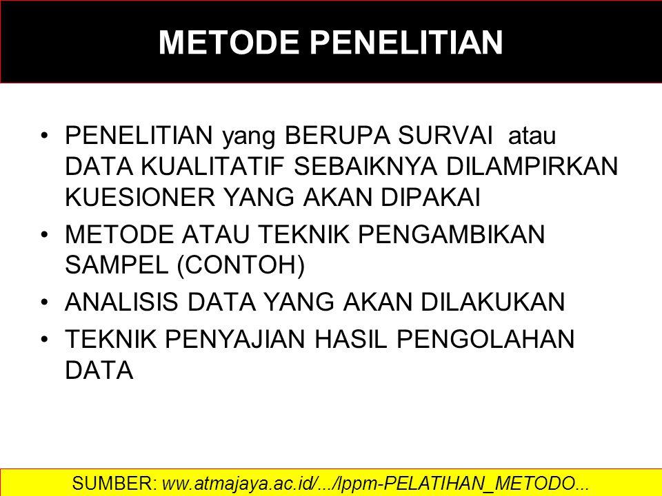 SUMBER: ww.atmajaya.ac.id/.../lppm-PELATIHAN_METODO...
