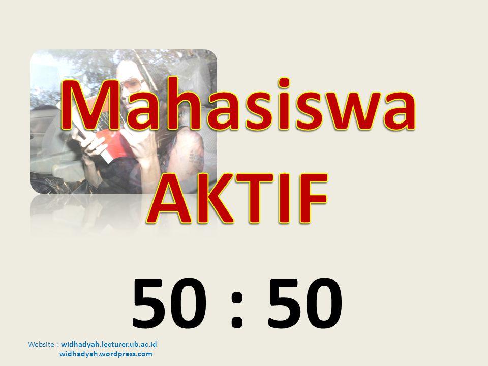 Mahasiswa AKTIF Adopsi budaya Barat 50 : 50