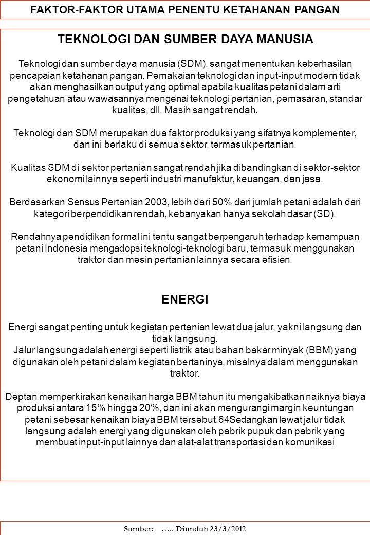 TEKNOLOGI DAN SUMBER DAYA MANUSIA ENERGI