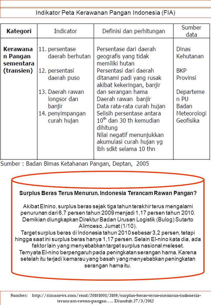 Surplus Beras Terus Menurun. Indonesia Terancam Rawan Pangan