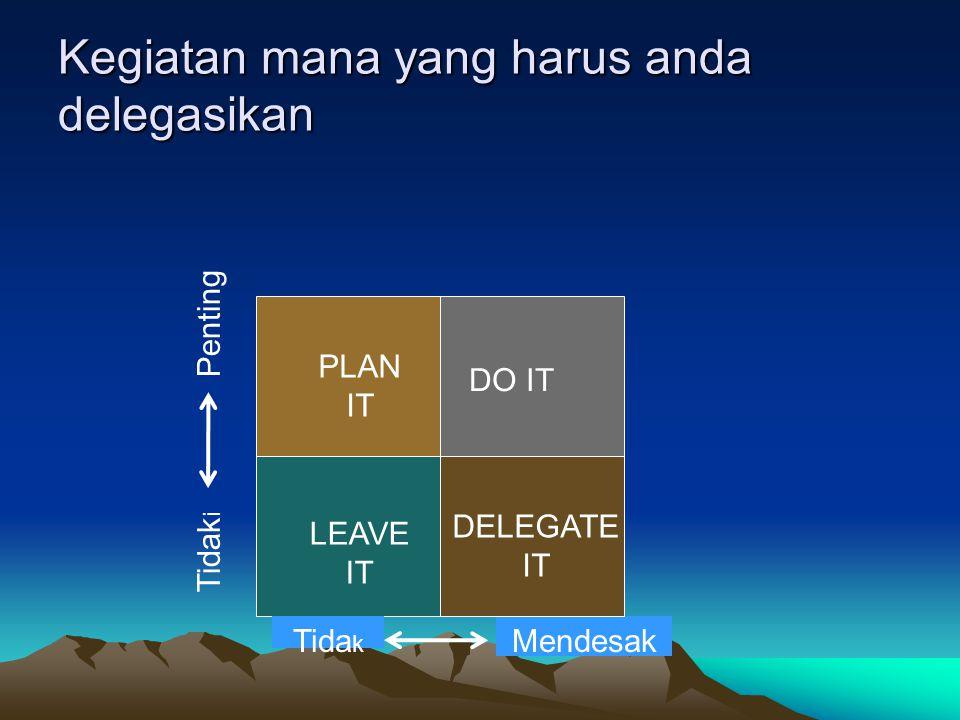 Kegiatan mana yang harus anda delegasikan