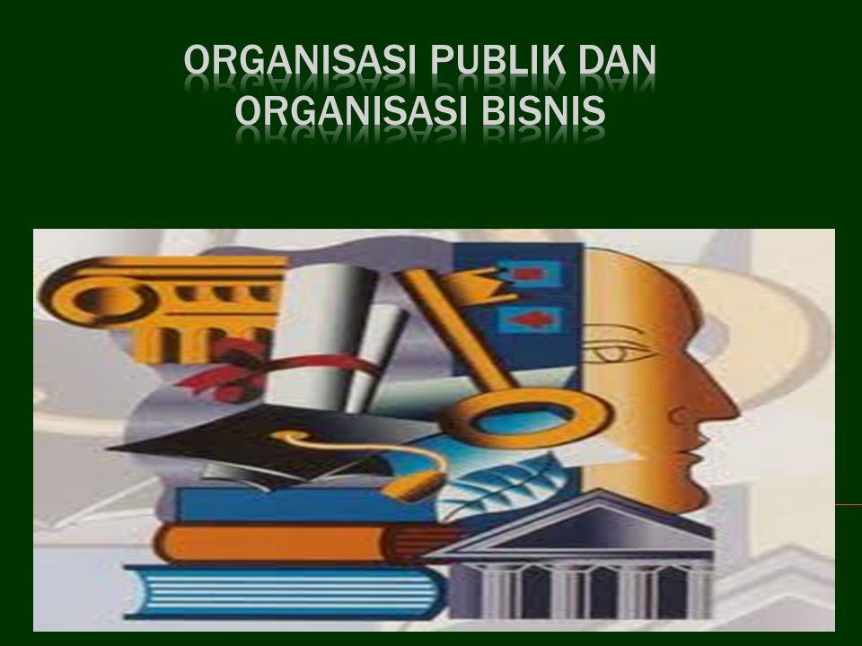 ORGANISASI PUBLIK DAN ORGANISASI BISNIS