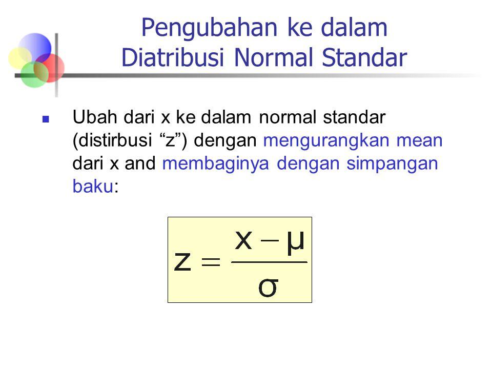 Pengubahan ke dalam Diatribusi Normal Standar
