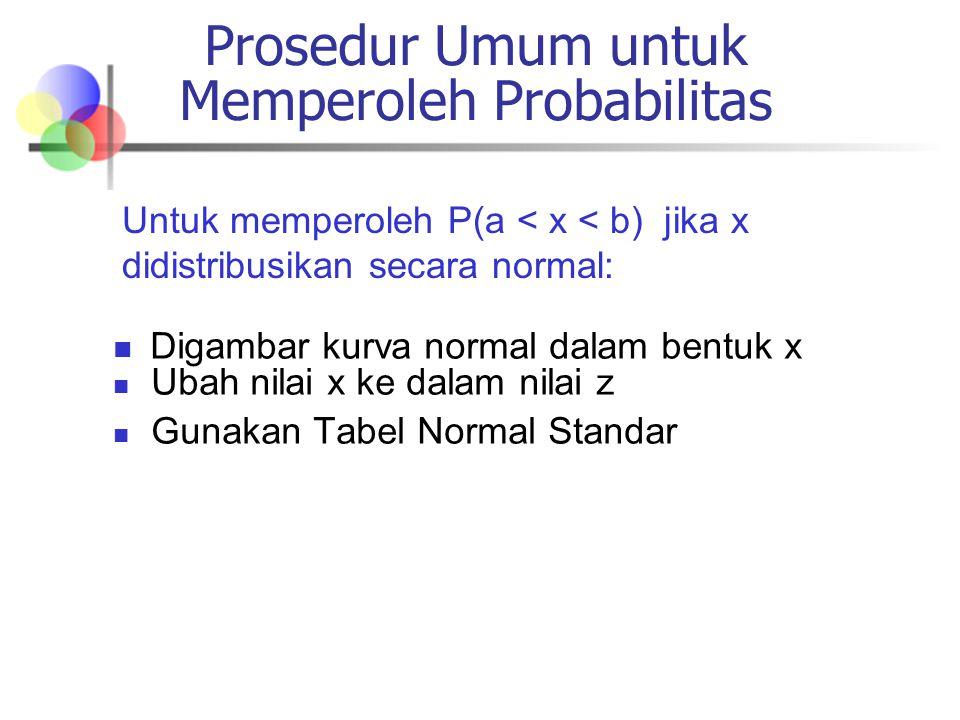 Prosedur Umum untuk Memperoleh Probabilitas