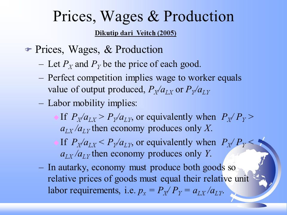 Prices, Wages & Production