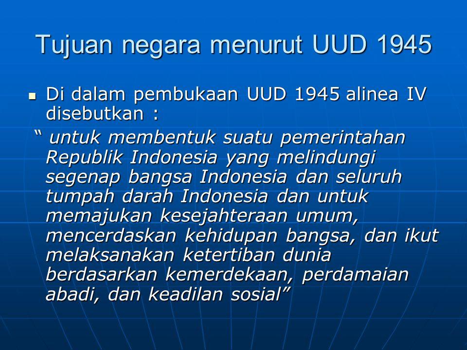 Tujuan negara menurut UUD 1945