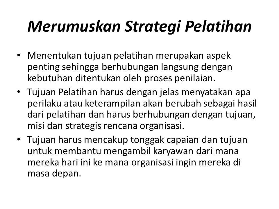 Merumuskan Strategi Pelatihan