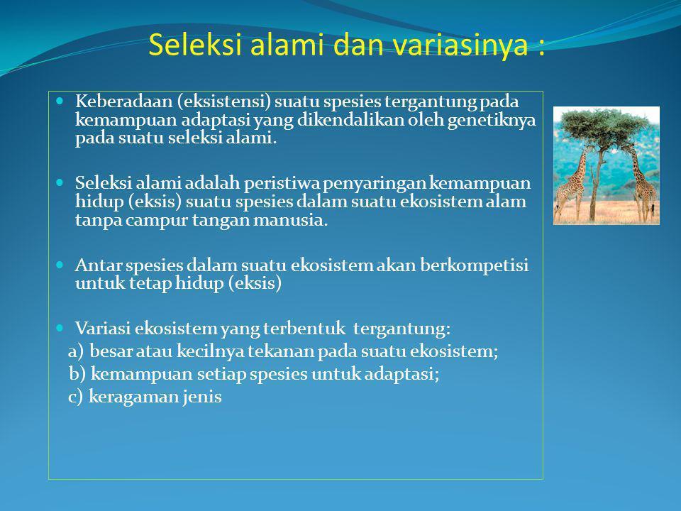 Seleksi alami dan variasinya :