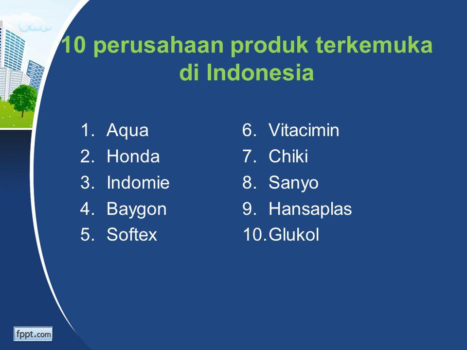 10 perusahaan produk terkemuka di Indonesia