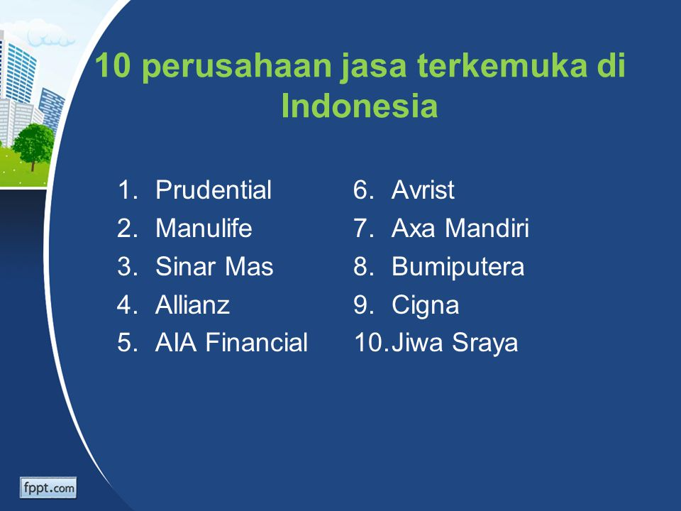 10 perusahaan jasa terkemuka di Indonesia