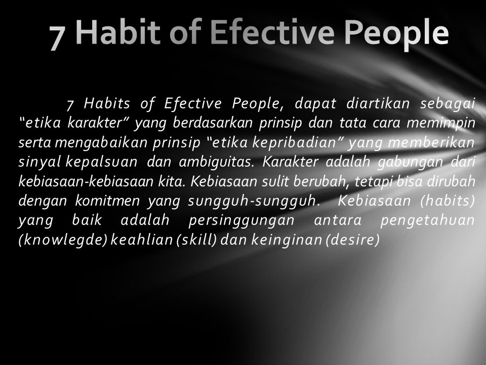 7 Habit of Efective People