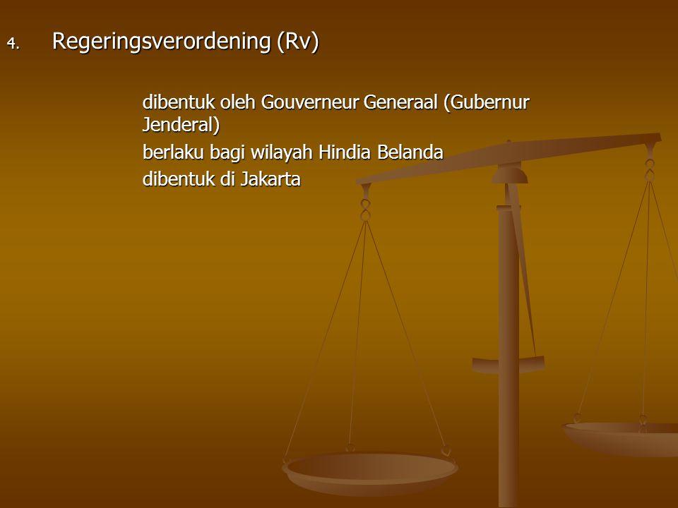 Regeringsverordening (Rv)