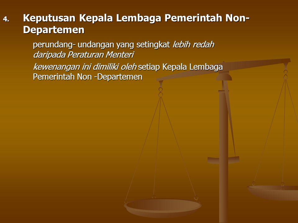 Keputusan Kepala Lembaga Pemerintah Non-Departemen