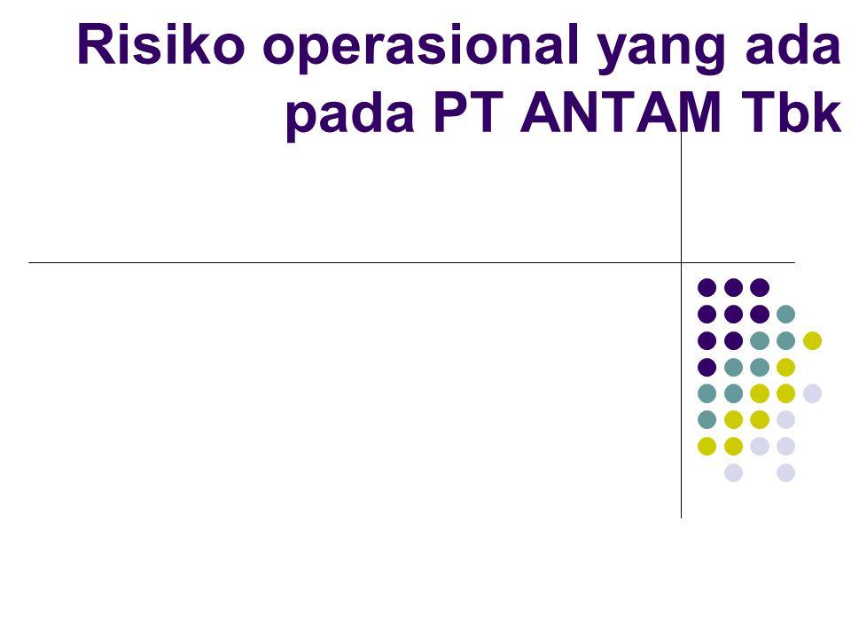 Risiko operasional yang ada pada PT ANTAM Tbk