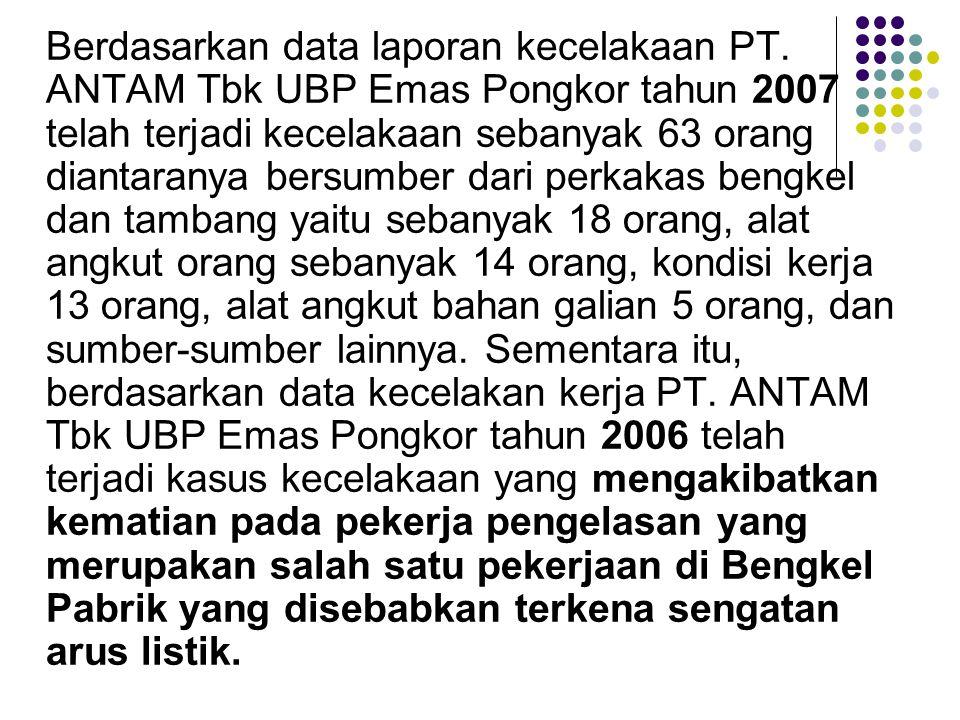 Berdasarkan data laporan kecelakaan PT