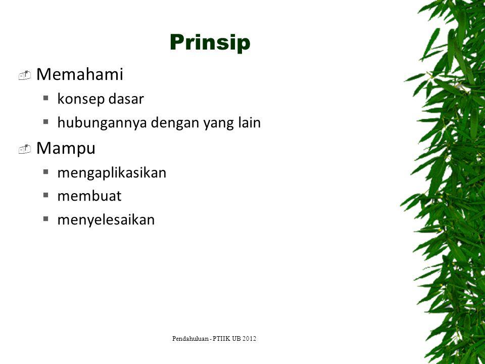 Prinsip Memahami Mampu konsep dasar hubungannya dengan yang lain