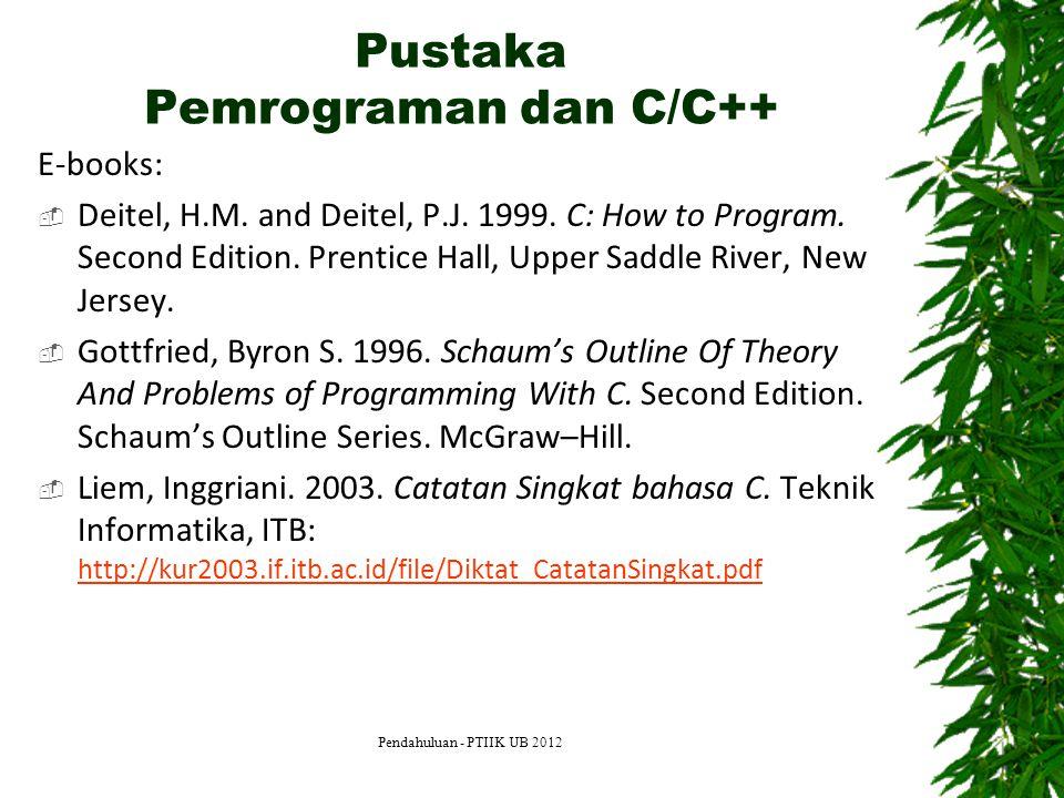 Pustaka Pemrograman dan C/C++