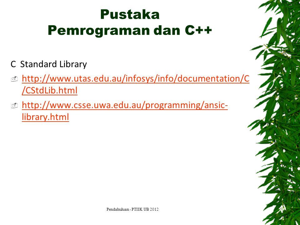 Pustaka Pemrograman dan C++