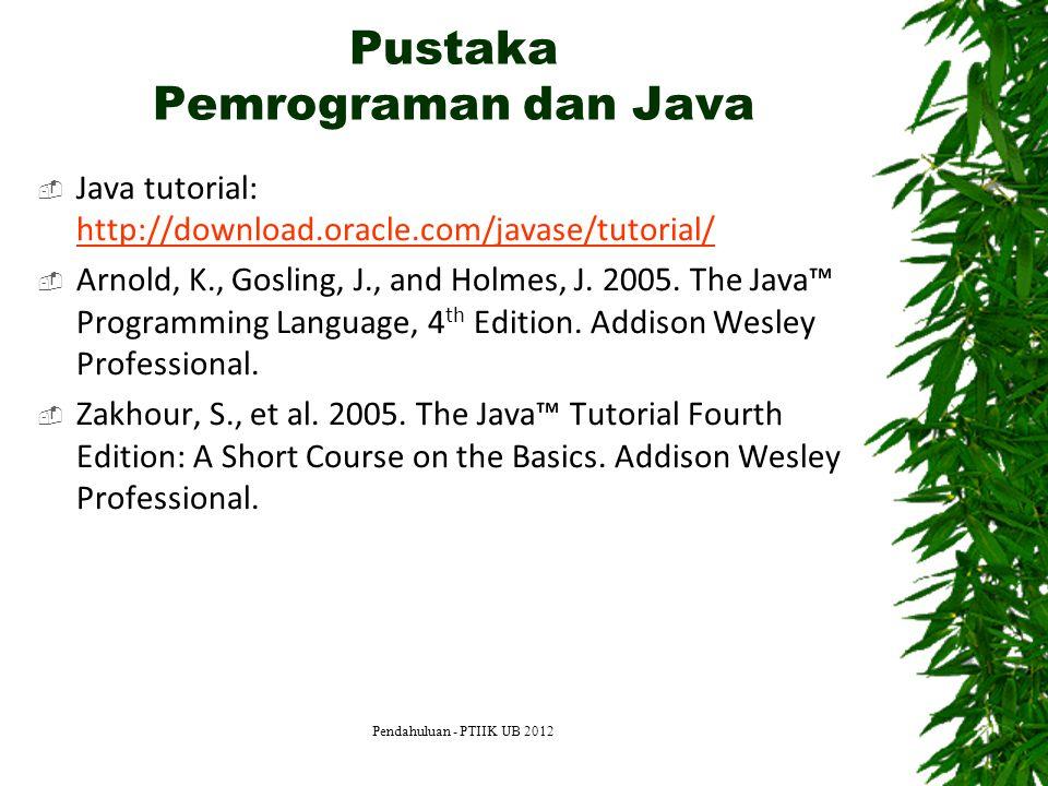 Pustaka Pemrograman dan Java
