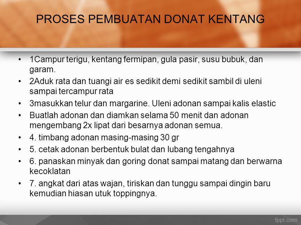 PROSES PEMBUATAN DONAT KENTANG