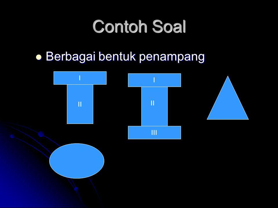 Contoh Soal Berbagai bentuk penampang I I II II III