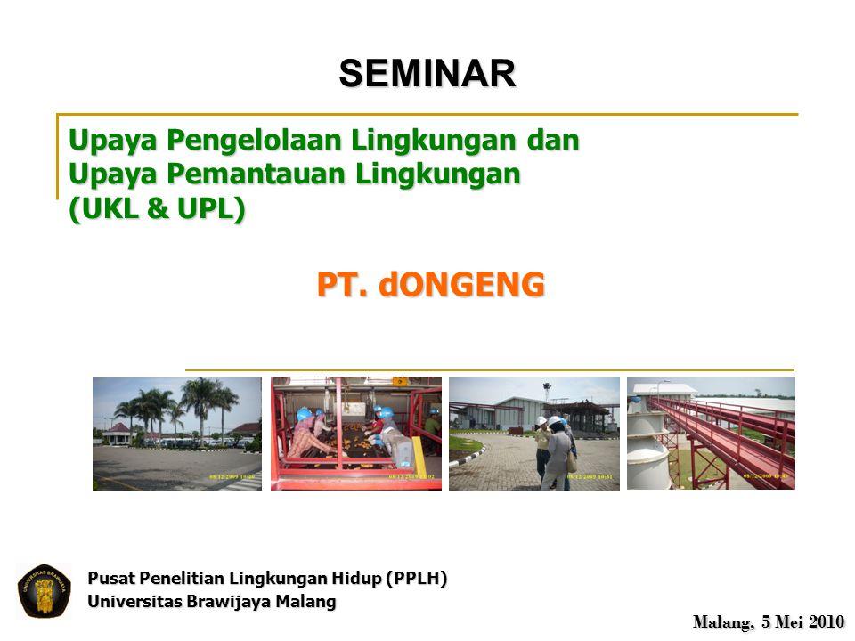 SEMINAR PT. dONGENG Upaya Pengelolaan Lingkungan dan