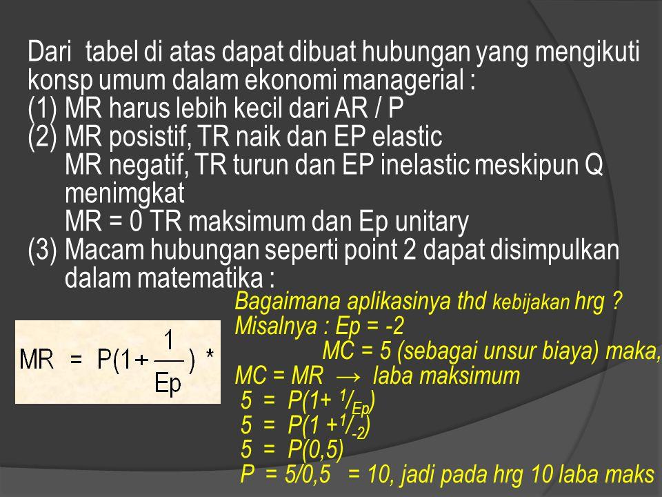 MR harus lebih kecil dari AR / P MR posistif, TR naik dan EP elastic