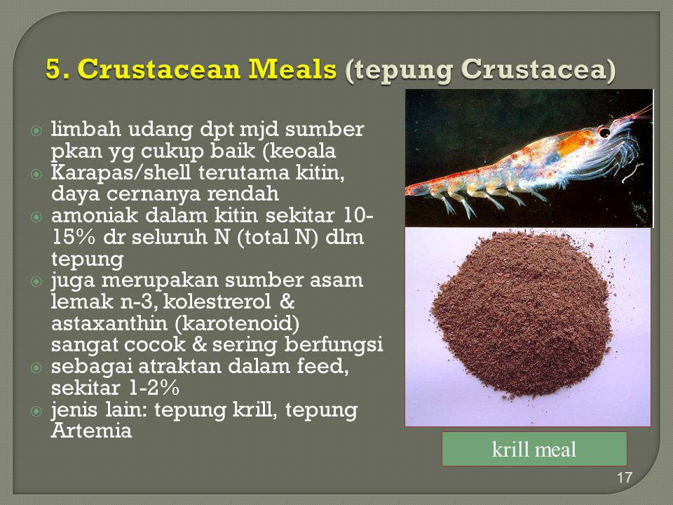5. Crustacean Meals (tepung Crustacea)