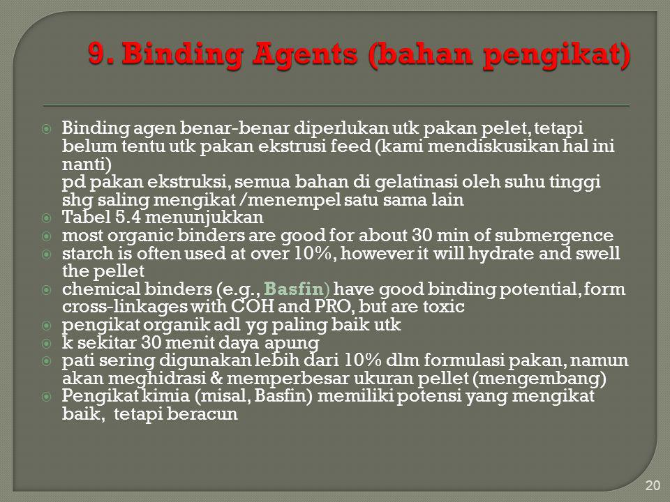 9. Binding Agents (bahan pengikat)