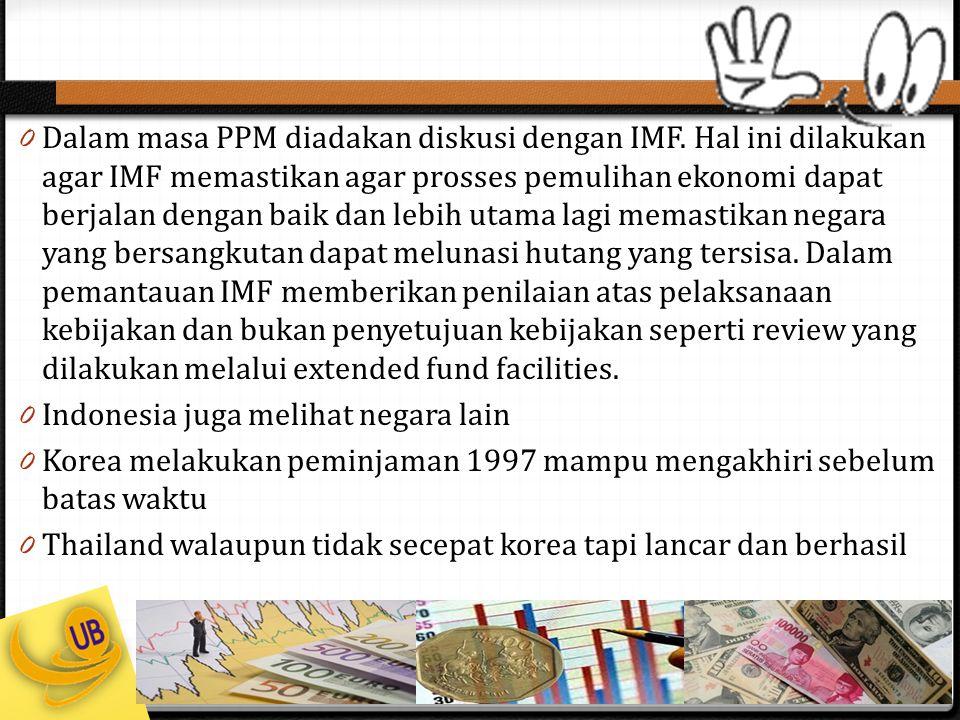 Dalam masa PPM diadakan diskusi dengan IMF