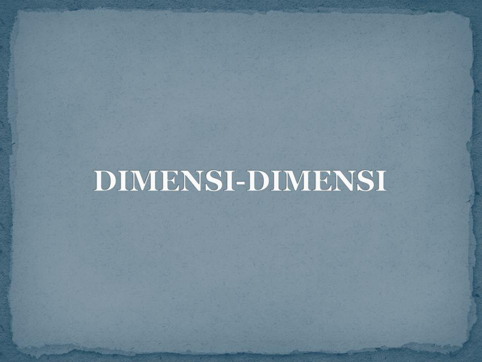 DIMENSI-DIMENSI