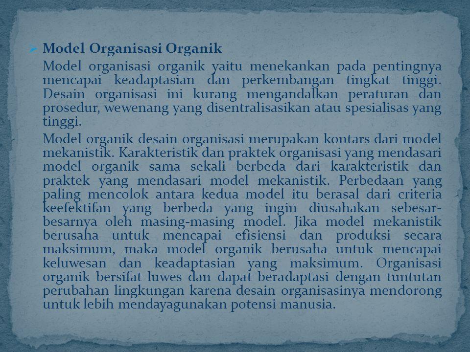Model Organisasi Organik