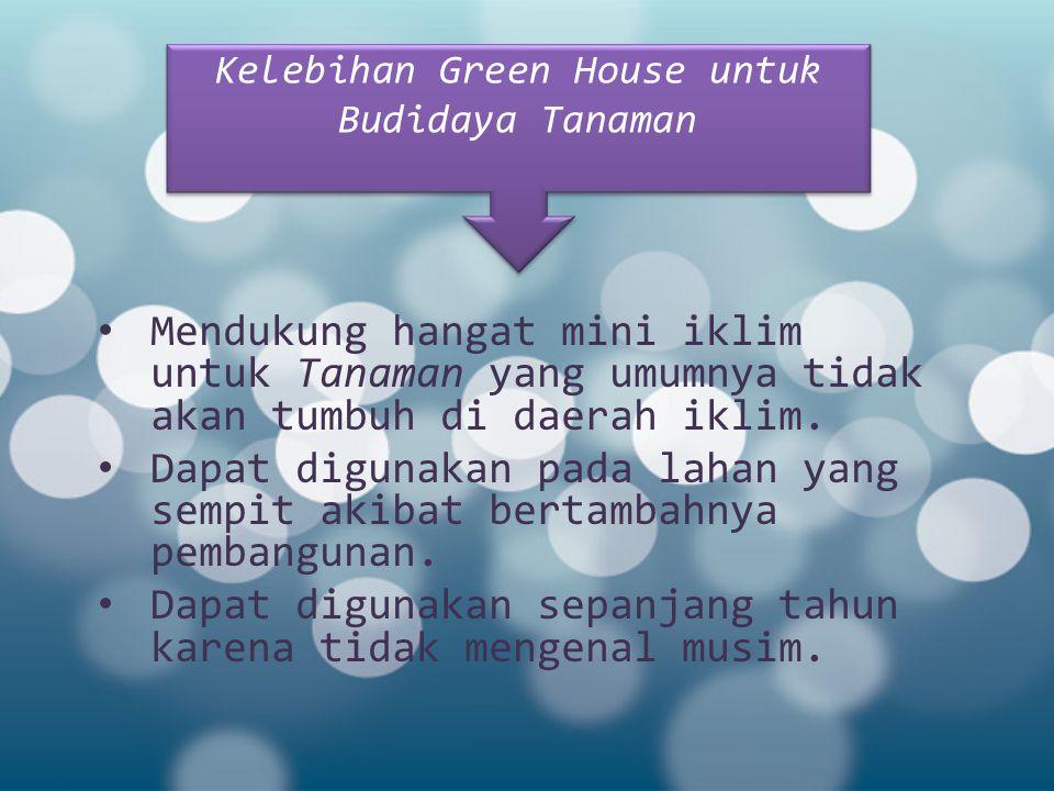 Kelebihan Green House untuk Budidaya Tanaman