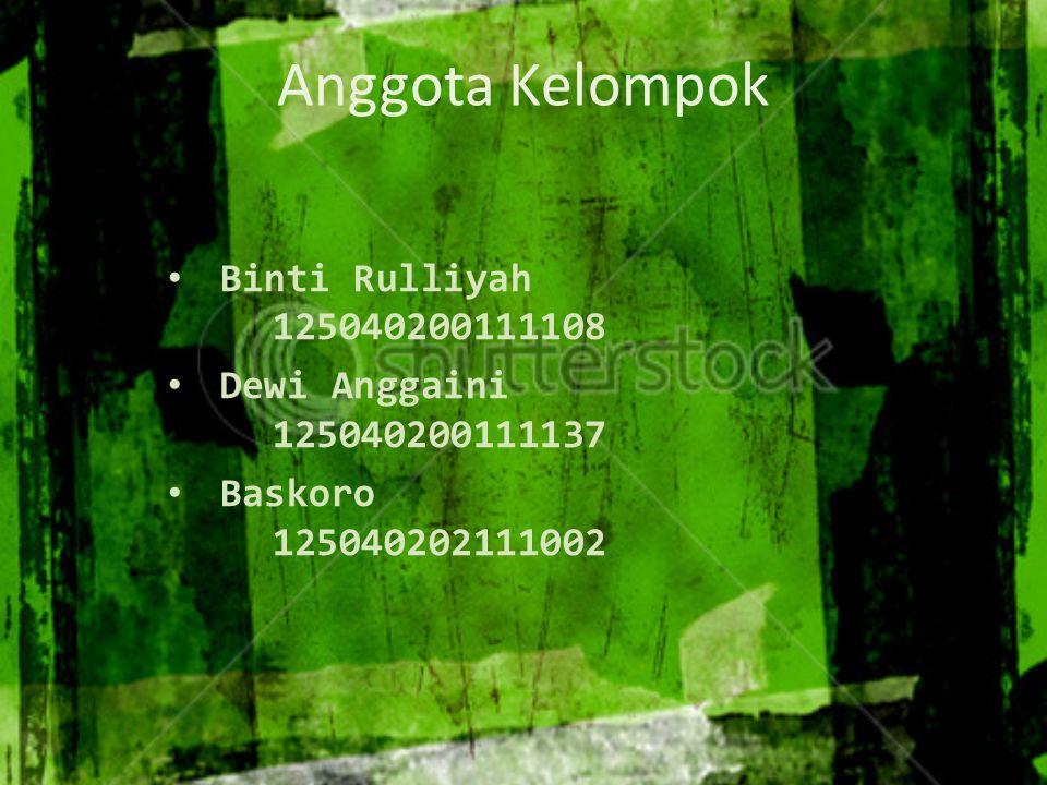 Anggota Kelompok Binti Rulliyah 125040200111108