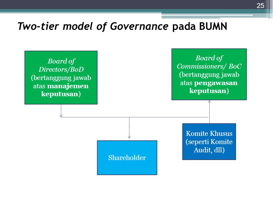 Two-tier model of Governance pada BUMN