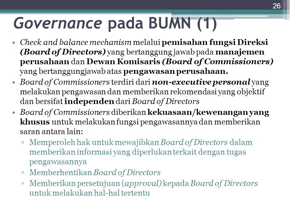 Governance pada BUMN (1)