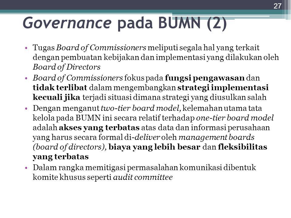 Governance pada BUMN (2)