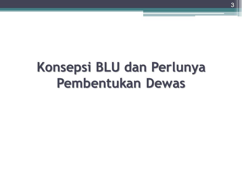 Konsepsi BLU dan Perlunya Pembentukan Dewas